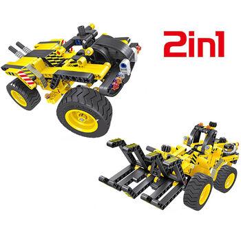 Конструктор 2 в 1 трактор и багги QiHui Technics 342 детали - QH6804