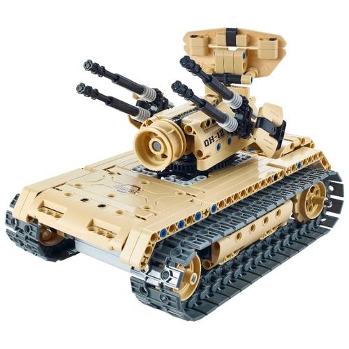 Радиоуправляемый конструктор зенитный танк QiHui Technics 4CH 2.4G 457 деталей - QH8012