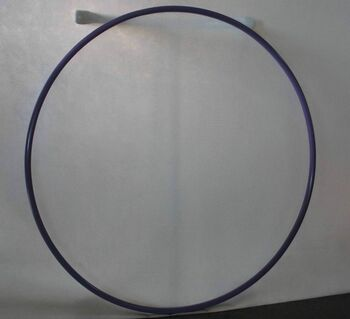 Хулахуп (обруч) гимнастический стальной d 900мм, стандартный вес 900гр ОСГ2