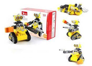 Машинка-конструктор Собери сам Робот, в наборе 43 детали, 35х25х11 см
