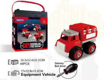 Машинка-конструктор Собери сам Пожарная машина