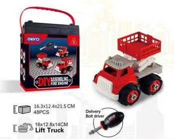 Машинка-конструктор Собери сам Пожарная машина с подъемником