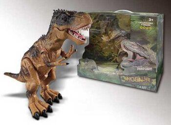 Динозавр на р/у Тиранозавр Рекс/ Спинозавр, пускает пар, звуковые и световые эффекты, 2 вида в ассортименте