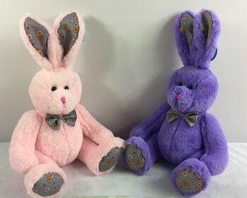 Кролик, 23см, 2 цвета(розовый, фиолетовый)