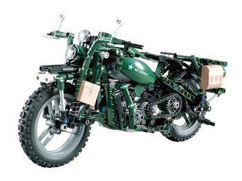 Радиоуправляемый конструктор CADA deTech американский военный мотоцикл (550 деталей)