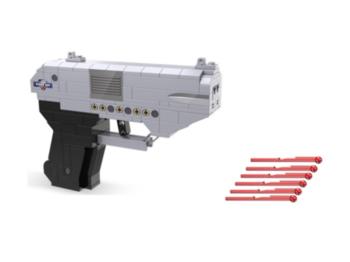 Конструктор CADA двухствольный пистолет (250 деталей)