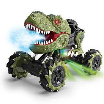 Радиоуправляемая зеленая машина-динозавр T-rex (дрифт колеса, пар) - 11810-GREEN