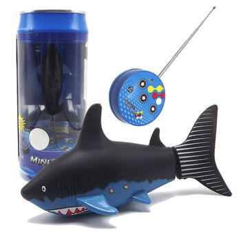 Радиоуправляемая рыбка-акула (черная, водонепроницаемая в банке) - 3310B-1