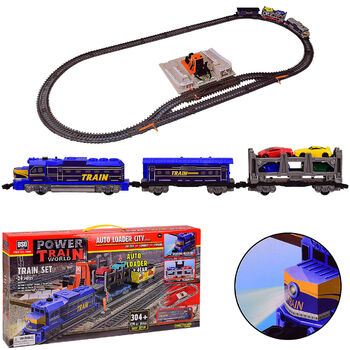Железная дорога со станцией загрузки автомобилей, длина полотна 304 см - BSQ-2086