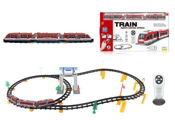 Железная дорога с пультом управления (поезд Красный экспресс, длина 396 см, свет, звук) - 2813Y