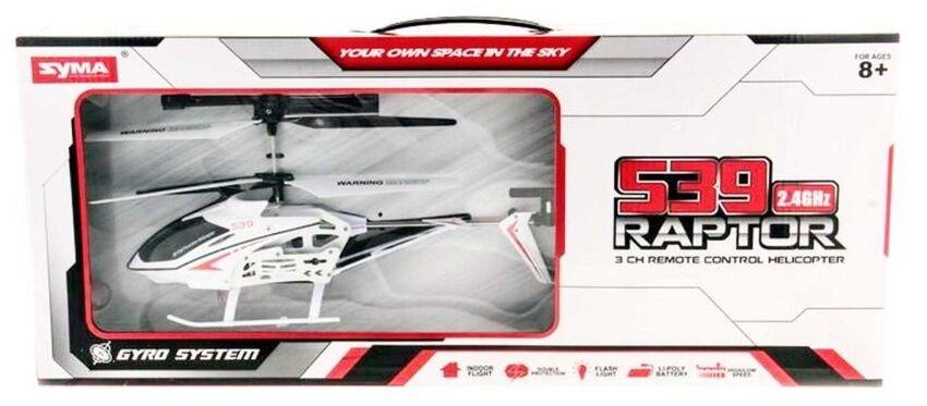 Радиоуправляемый вертолет на пульте SYMA S39 White Raptor 2.4G 33 см цвет белый