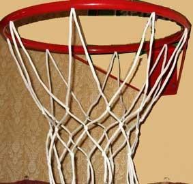 Корзина баскетбольная №5, d 380мм, с упором и сеткой КБ51 (Россия)
