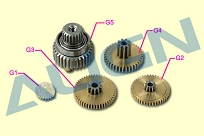 Шестерни G1, G2, G3, G4, G5 сервомашинки DS410, металл