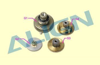 Шестерни G1, G2, G3, G4 сервомашинки BL750H металл
