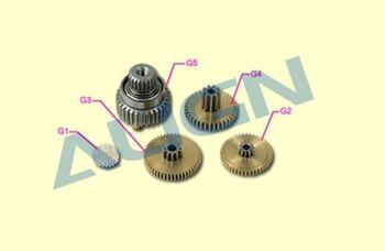 Шестерни G1, G2, G3, G4, G5 сервомашинки DS525 металл