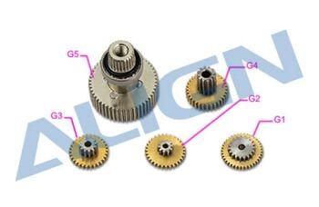 Шестерни G1, G2, G3, G4, G5 сервомашинки Align DS615S металл