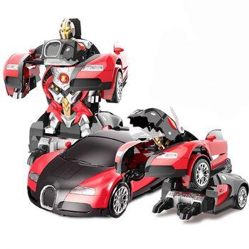 Радиоуправляемый трансформер робот зверь Bugatti Veyron Red 1:14 - MZ-2801P