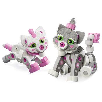 Мягкий конструктор из EVA Soft Blocks Кошка и котенок 180 деталей