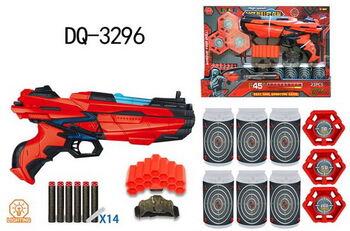 Бластер FJ013-121802 в наборе с мягкими снарядами 14 шт