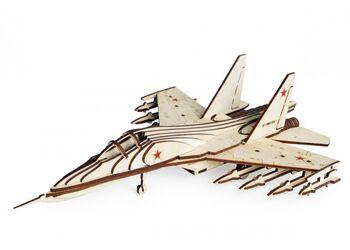 Конструктор 3D деревянный Lemmo Российский Истребитель СУ-30 - СУ-30