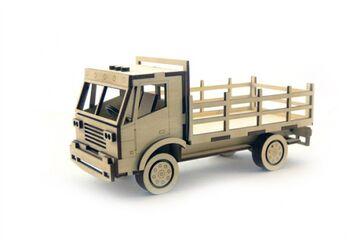 Конструктор 3D деревянный подвижный Lemmo Грузовик с кузовом - ГР-1