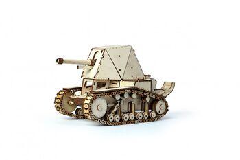 Конструктор 3D деревянный подвижный Lemmo Танк СУ-18 - 00-24