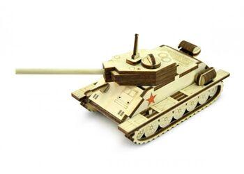 Конструктор 3D деревянный подвижный Lemmo Танчик Т-34 - Т-34М