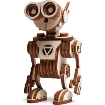 Деревянный 3D конструктор Lemmo Робот Санни (можно использовать как брелок) - 00-76