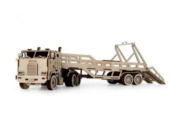 Конструктор 3D деревянный подвижный Lemmo Автовоз