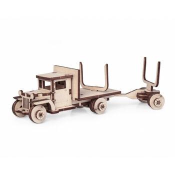 Конструктор 3D деревянный подвижный Lemmo Грузовик грузовичок 5В с роспуском - 00-84