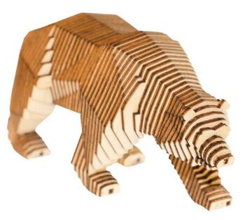 Конструктор деревянный Параметрический Медведь