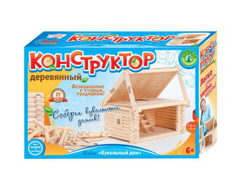 Деревянный конструктор Кукольный домик
