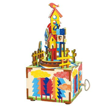 Деревянный 3D конструктор - музыкальная шкатулка Robotime Castle in the sky - AM307