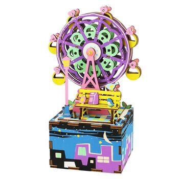 Деревянный 3D конструктор - музыкальная шкатулка Robotime Ferris Wheel - AM402