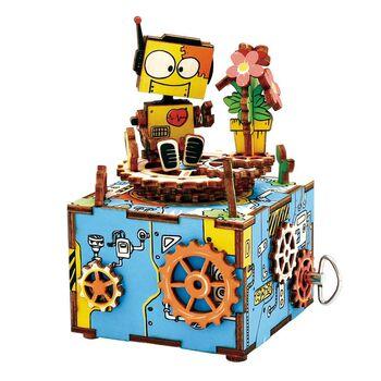 Деревянный 3D конструктор - музыкальная шкатулка Robotime Machinarium - AM305