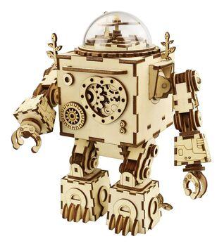 Деревянный 3D конструктор - музыкальная шкатулка Robotime Робот Orpheus - AM601