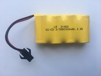 Аккумулятор Ni-Cd 2/3AA 4.8v 1000mah форма Flatpack разъем YP
