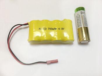 Аккумулятор Ni-Cd 2/3AA 4.8v 700mah форма Flatpack разъем JST