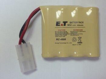 Аккумулятор NICD 4.8V 800mAh ExT RC 4808 Tamiya