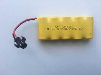 Аккумулятор Ni-Cd 2/3AA 3.6v 700mah форма Flatpack разъем YP