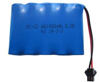 Аккумулятор Ni-Cd 6v 1400mah форма Flatpack разъем YP