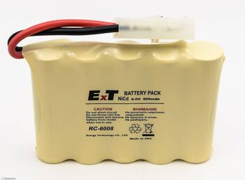 Аккумулятор NICD 6V 800mAh ExT RC 6008 FlatPack