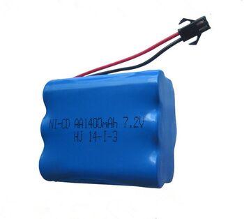 Аккумулятор Ni-Cd 7.2v 1400mah форма Row разъем YP