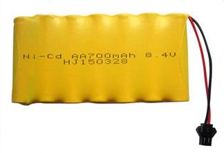 Аккумулятор Ni-Cd 8.4v 700mah форма Flatpack разъем YP