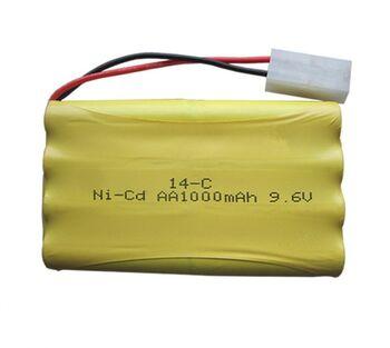 Аккумулятор Ni-Cd 9.6v 1000mah форма Column-Row разъем Tamiya
