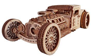 Механический 3D-пазл из дерева Wood Trick Хот Род
