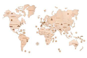 Механическая сборная модель Wood Trick Карта мира XXL
