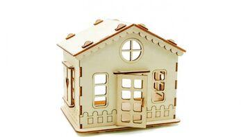 Конструктор ХэппиДом Дачный домик из дерева - HK-D003