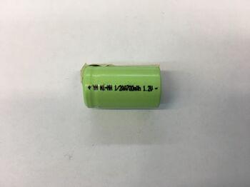 Аккумулятор Ni-Mh 1/2 AA 1.2v 700mah (1 шт)