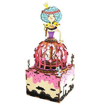 Деревянный 3D конструктор - музыкальная шкатулка Robotime Princess - AM405